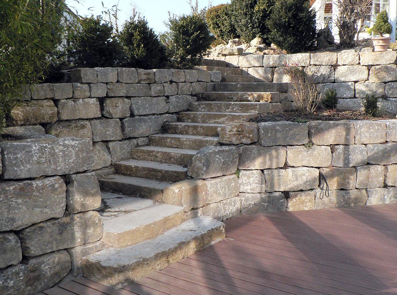 Relativ Mauern & Treppen - Baier Gartengestaltung TU82